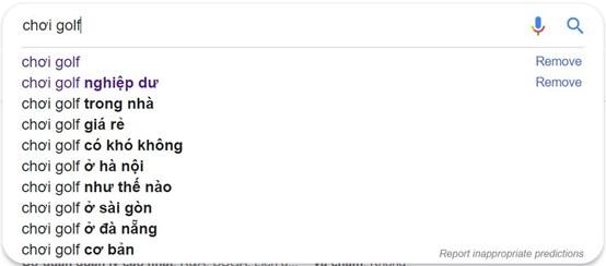 Công cụ gợi ý từ khóa của Google