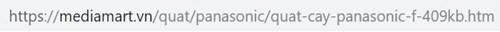 URL trang sản phẩm đã thân thiện SEO