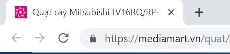 Nhan đề Quạt cây Mitsubishi LV16RP trên cửa sổ trình duyệt