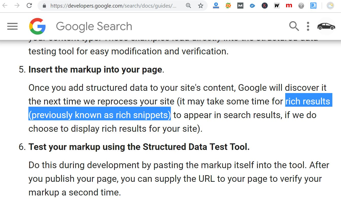 Rich Results và Rich Snippets